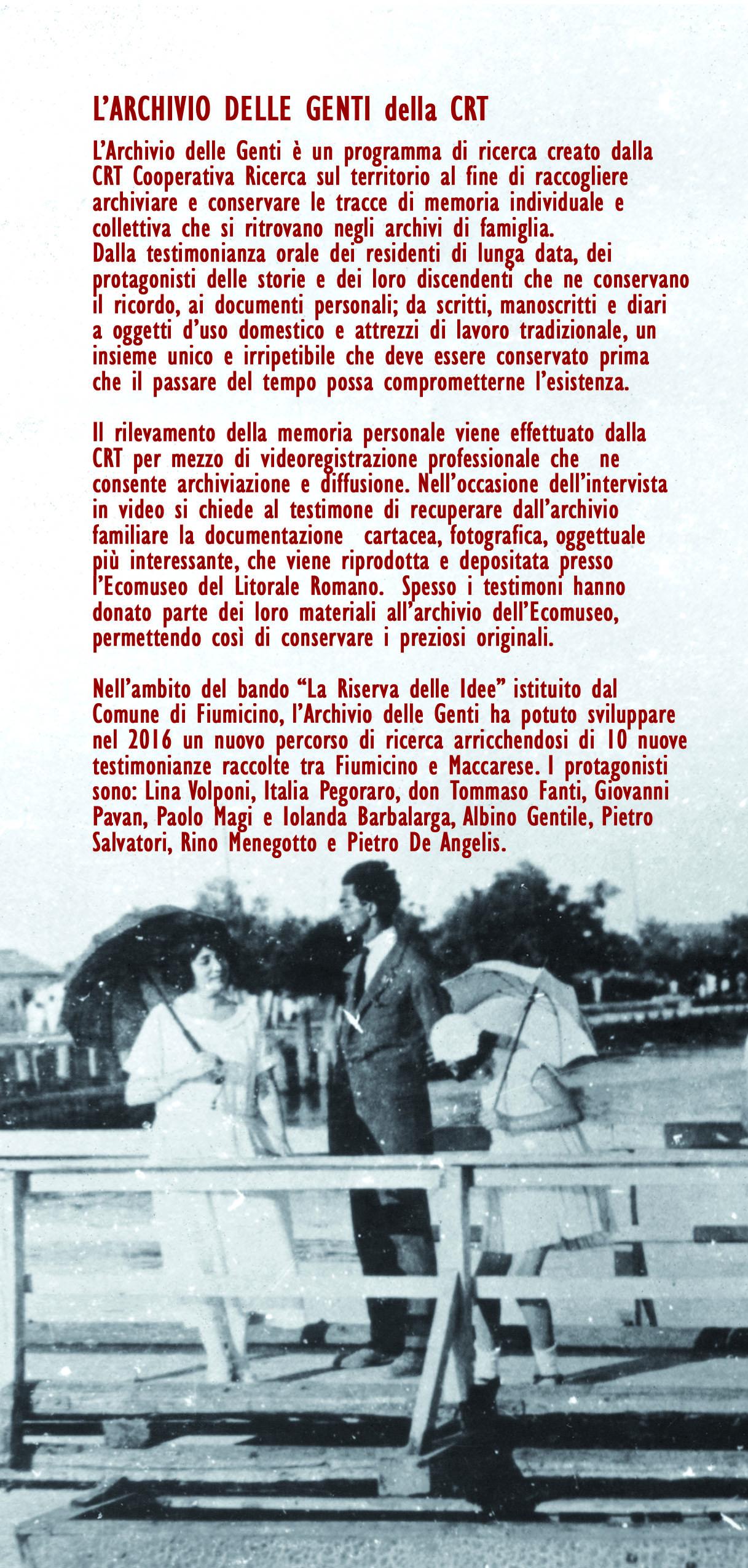 Depliant Archivio Genti